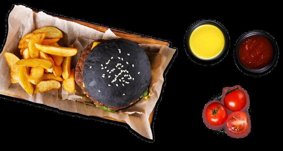 Чёрный бургер
